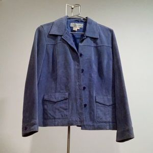 Vintage Blue Suede Blazer